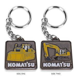 Komatsu Dozer/Excavator Keychain